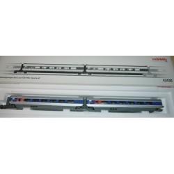 MARKLIN 43430. H0 Set ampliación coches TGV POS de la SNCF.