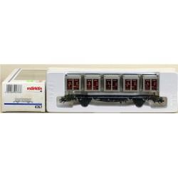 MARKLIN 4767. H0 Vagón Plataforma con 5 contenedores de la DB