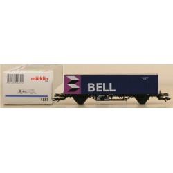MARKLIN 4851. H0 Vagón plataforma con contenedor BELL