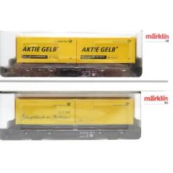 MARKLIN 94020. H0 Vagón Plataforma con dos contenedores del Servicio de Correos de 1997