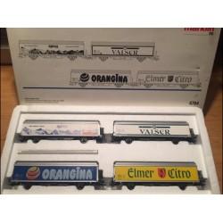 MARKLIN 4784. H0 Set de 4 vagones de mercancías de la SBB