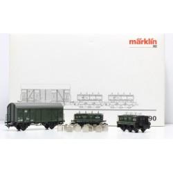 MARKLIN 48690. H0 Set 3 Vagones Gleiswaagen-Eichzug DB