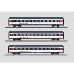 MARKLIN 42166. H0 Set de 3 coches Expreso de los Ferrocarriles Suizos SBB