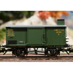 TRIX 24101. H0 Vagón de mercancías cubierto con garita de guardafrenos. Kbay