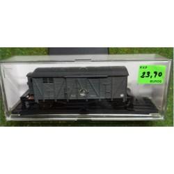 KTRAIN 0702-A. H0 Vagón Cerrado con garita gris.