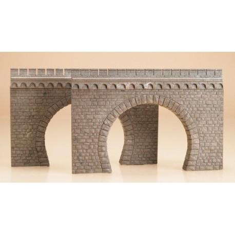 AUHAGEN 41587. Portal tunel via doble 2 unidades H0