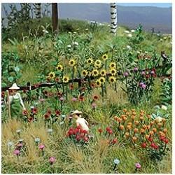 BUSCH 1258. Campo de flores H0