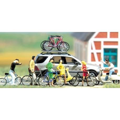 BUSCH 6013. Bicicletas y motos H0