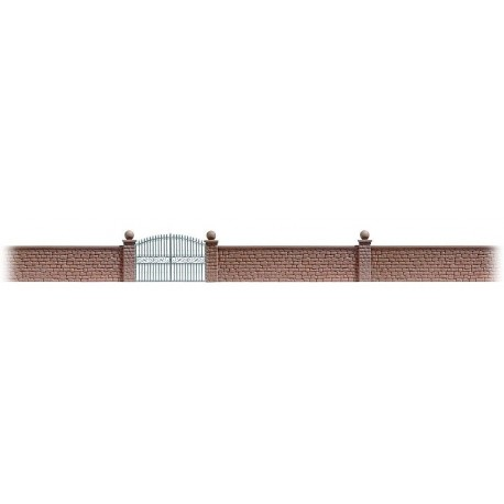 BUSCH 6014. Muro y puerta H0