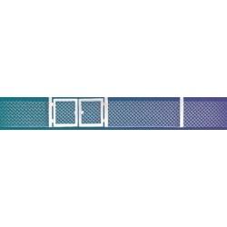 BUSCH 6019. Alambrada metálica con puerta H0.