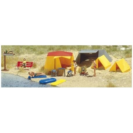 BUSCH 6026. H0 Set de camping.