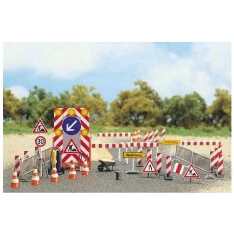 BUSCH 6048. Señalización obras carreterass H0