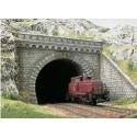 BUSCH 7023. Túnel Portal 2 unidades. Doble vía H0
