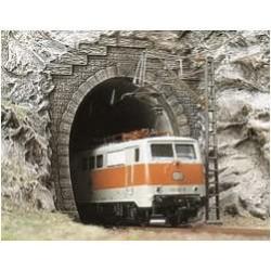 BUSCH 7024. Portal Túnel 1 vía . 2 unidades H0