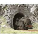 BUSCH 7025. Portal Túnel 1 vía H0. 2 unidades
