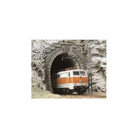 BUSCH 7026. Portal túnel 1 vía H0. 2 unidades