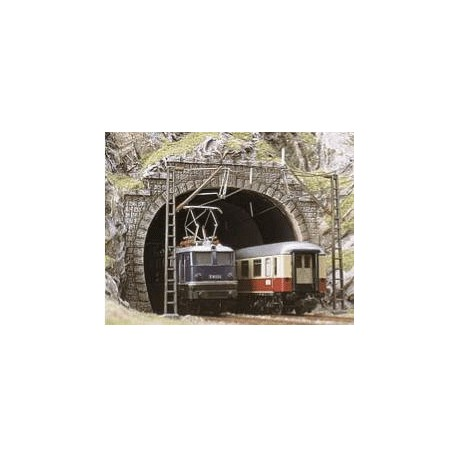 BUSCH 7027. Portal túnel doble vía H0. 2 unidades