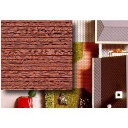 BUSCH 7039. Placas decoración madera H0. 2 unidades