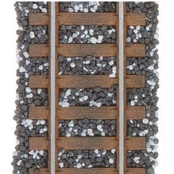 BUSCH 7124. Balasto medio gris/negro H0/N