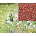 BUSCH 7357. Flocaje flores rojas H0/N