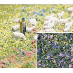 BUSCH 7359. Foliage flores azul/lila H0/N