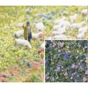 BUSCH 7359. Flocado flores azul/lila H0/N