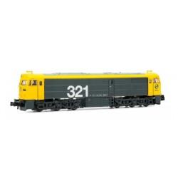 ARNOLD 2242S. N Locomotora diesel 321.059 RENFE Digital con SONIDO, gris y amarilla