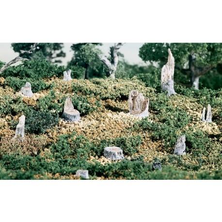 WOODLAND S31. Troncos árboles cortados metal 14 unidades