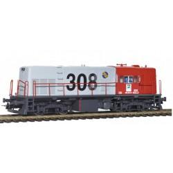 MABAR 81503. H0 Locomotora Diésel 308-027 gris/roja Cargas