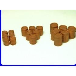 MAFEN 22108. H0 Pack 18 barriles de madera surtidos