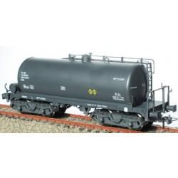 Ktrain 0714-C. H0 Vagón cisterna de bogies gris RENFE. Matrícula RR-310070.