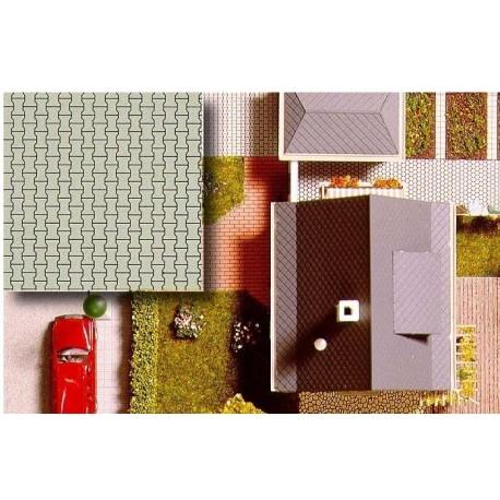 BUSCH 7035. H0 Placas decoración suelo, 2 unidades