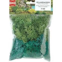 BUSCH 7102. H0/N Musgo verdes surtido