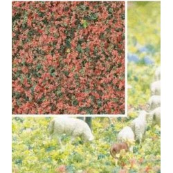BUSCH 7356. Flocado flores verdes/rojas H0/N