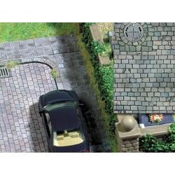 BUSCH 7417. H0 Placa decoración suelo con alcantarillas redondas. 2 unidades