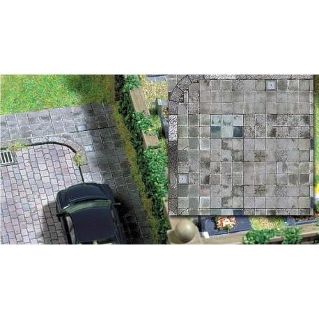 BUSCH 7418. H0 Placa decoración suelo con alcantarillas cuadradas. 2 unidades