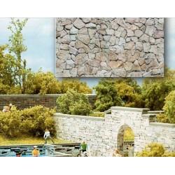 BUSCH 7422. H0 Placas decoración muro piedra irregular. 2 unidades
