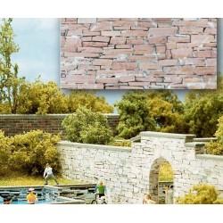 BUSCH 7423. H0 Placas decoración muro irregular. 2 unidades
