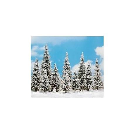 BUSCH 6465. H0 10 pinos nevados