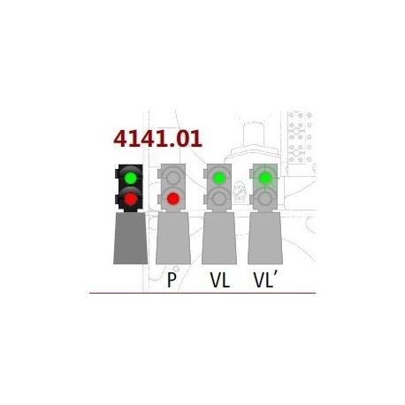MAFEN 414101. N Señal baja de 2 luces -verde/rojo- FINE SCALE