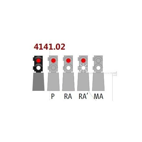 MAFEN 414102. N Señal baja 2 luces rojo/blanco