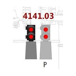 MAFEN 414103. N Señal baja 2 luces rojo/rojo