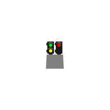 MAFEN 414105. N Señal baja de 3 luces -verde/ámbar/rojo-
