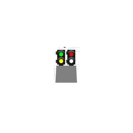 MAFEN 414107. N Señal baja de 4 luces -verde/ámbar/rojo/blanco