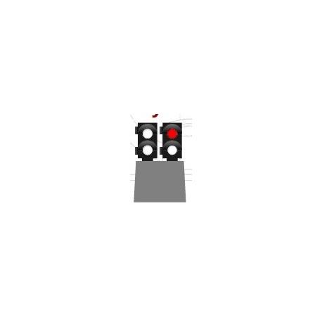 MAFEN 414109. N Señal baja de 4 luces -blanco/rojo/blanco/blanco