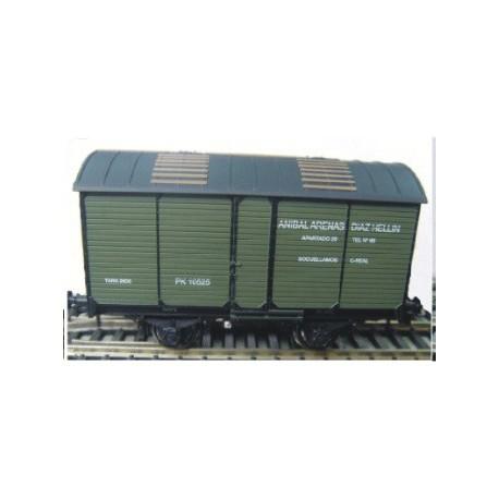 Ktrain 0711-D. Vagón Fudre para transporte de vino ANIBAL ARENAS. RENFE PK-10525