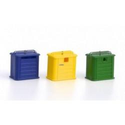 MAFEN 21247. N Contenedores de reciclaje metálicos. 3 unidades