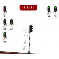 MAFEN 413111. N Señal 3 luces verde,rojo,amarillo.