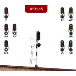 MAFEN 413115. N Señal de 4 luces verde, rojo, ámbar, blanco