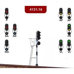 MFN 413116. N Señal de 4 luces verde, rojo, ámbar, azul
